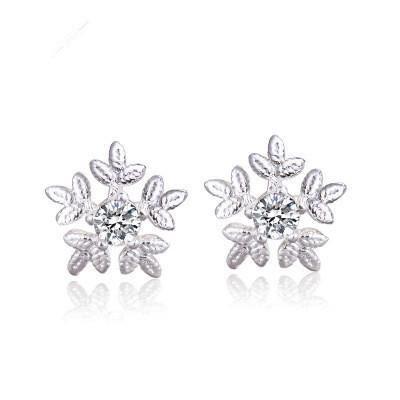 Fashion Diamond S925 Silver Snowflake Stud Earrings NHCU149840's discount tags