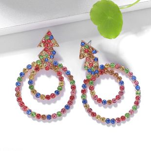 Fashion color hollow diamond earrings NHJQ149856's discount tags