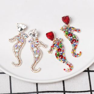 Fashion-studded seahorse earrings NHJJ149859's discount tags