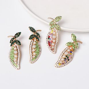 Fashion vegetable pea alloy color studded stud earrings NHJJ149862's discount tags