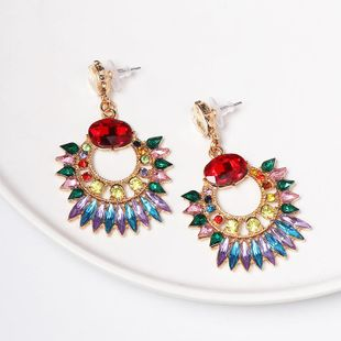 Fashion alloy colorful diamond earrings NHJJ149865's discount tags