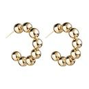 Fashion Cshaped beaded hoop earrings NHJE149818