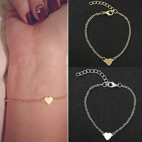 Simple sexy heart-shaped love heart bracelet NHDP149878's discount tags