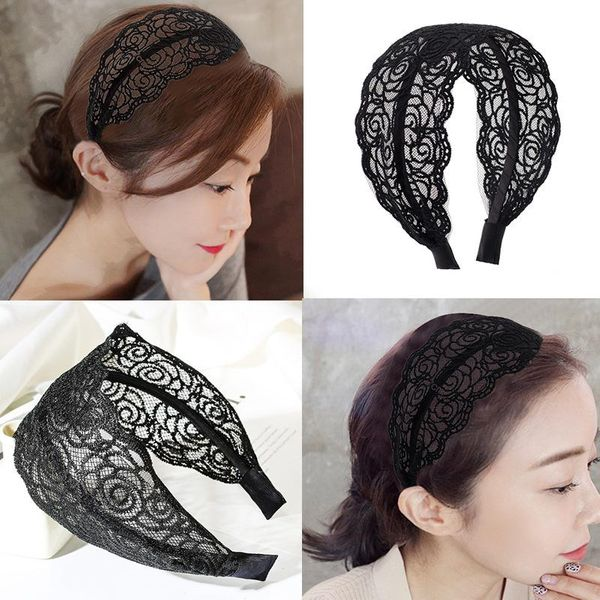 Lace lace wide-brimmed openwork hand-knitted headband NHDP149931