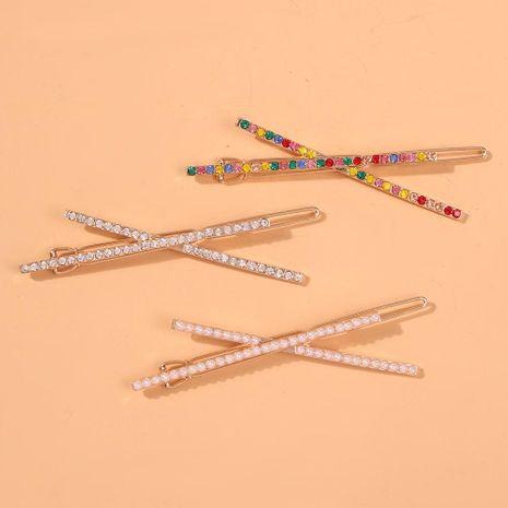 Accesorio para el cabello de perlas de aleación cruzada de diamantes de moda NHMD150062's discount tags
