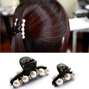 Korean version of rhinestone black elegant atmosphere bow hair accessories NHDP150075's discount tags