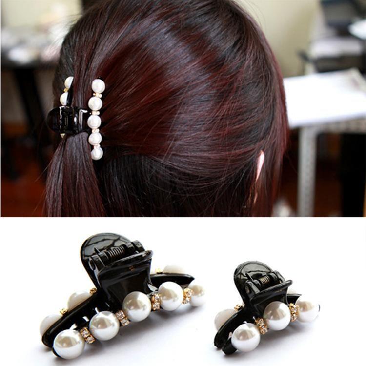 Korean version of rhinestone black elegant atmosphere bow hair accessories NHDP150075