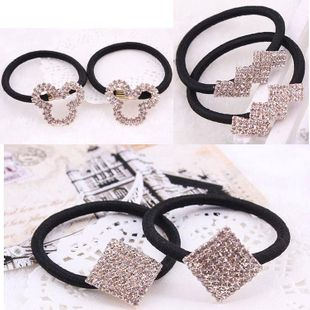 Korean version of the artificial gemstone five-pointed star alloy love hair accessories NHDP150122's discount tags