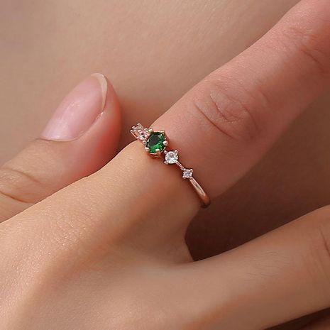 Moda flash taladro artificial de piedras preciosas anillo de metal NHDP150124's discount tags