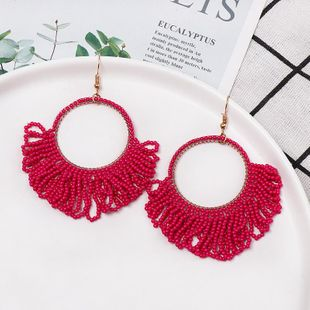 Fashion color beads earrings NHJJ150128's discount tags