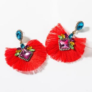 Fashion color rhinestone tassel earrings NHJE150134's discount tags