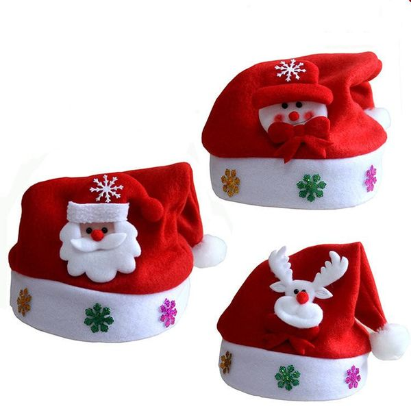 Stylish Christmas Applique Cartoon Glowing Snowman Child Hat NHMV150211
