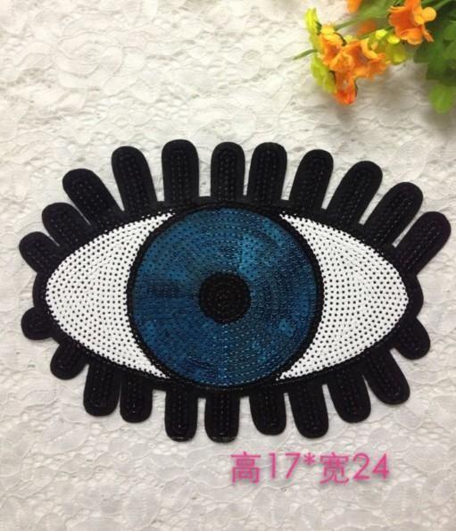 Fashion sequins eye beads cloth patch patch NHLT150222