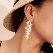 Boucles d'oreilles en perles de taille populaire en alliage torsadé NHGY150238