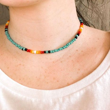Bohemian short rice beads choker NHCT150297's discount tags