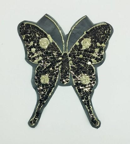 Sleek minimalist butterfly sequin t-shirt NHLT150309