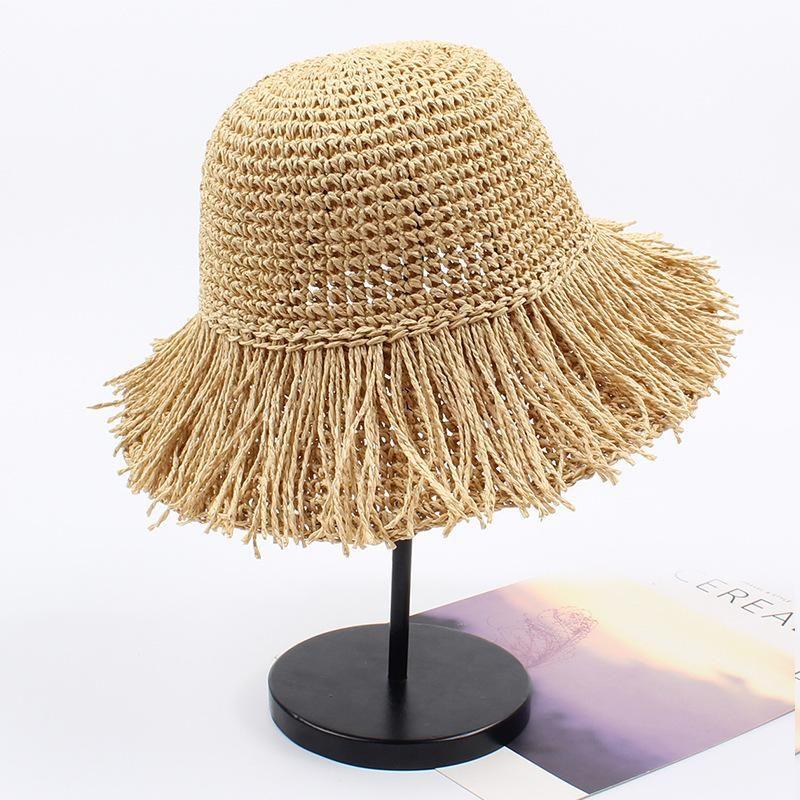 Seaside holiday fringed small fresh sunshade beach hat NHXO150353