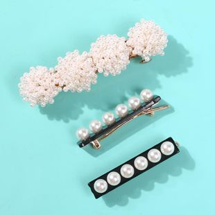 Simple wild pearl flower resin hair accessory NHMD150356's discount tags