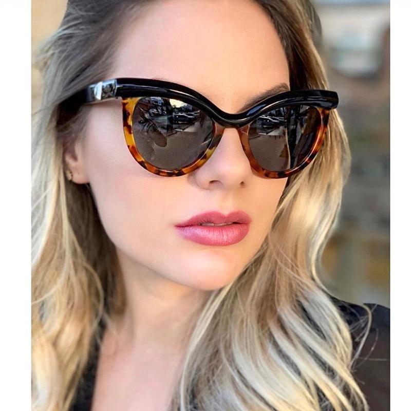 Gafas de sol de ojo de gato de moda de media montura NHFY150442