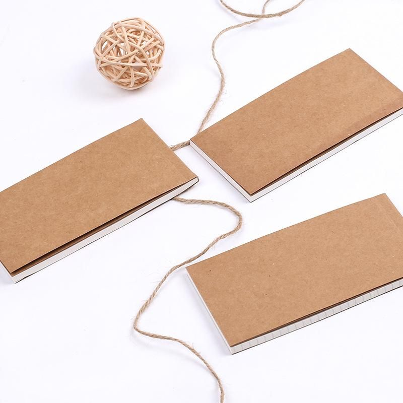 Vintage kraft paper can tear the grid small book NHHE150444