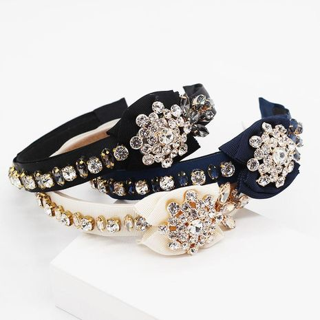 Fashion new full diamond geometric headband NHWJ150469's discount tags