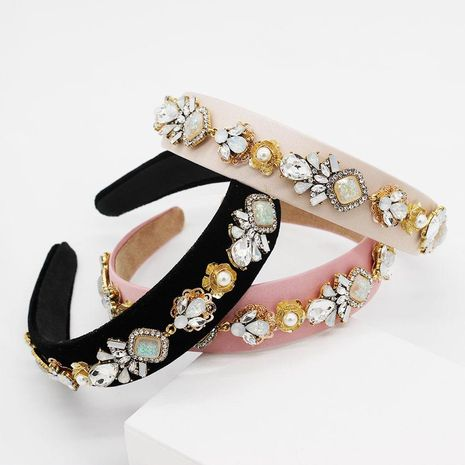 Fashion Baroque Diamond Headband NHWJ150471's discount tags