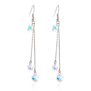 New chain colorful crystal earrings NHPF150490's discount tags
