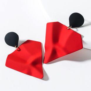 Fashion contrast color geometric alloy spray earrings NHJE150497's discount tags