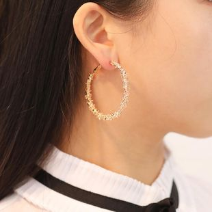 New multi-thorn circle alloy plating hoop earrings NHDP150509's discount tags