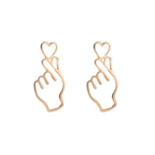 Fashion hollowed out heart stud earrings NHDP150514's discount tags