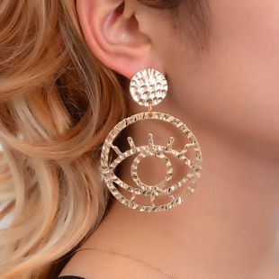 Fashion Alloy Openwork Contour Eye Earrings NHDP150521's discount tags