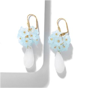 Fashion water drop flower earrings NHJQ150525's discount tags