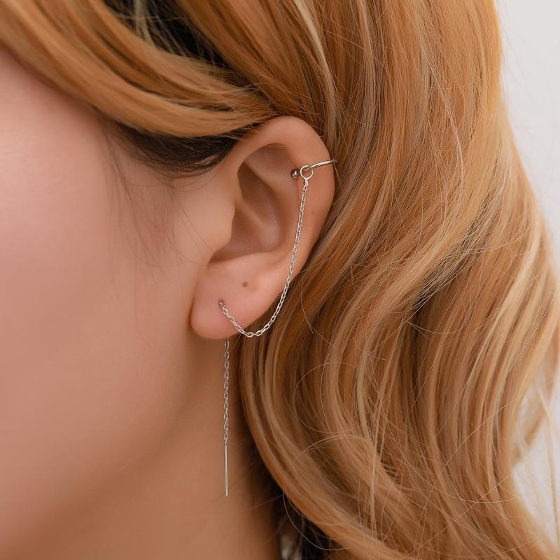 New alloy thin chain ear cuff fashion clip earrings NHDP150555