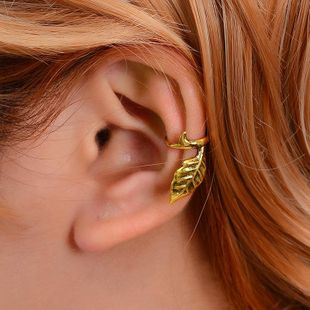 New simple ear cuff metal tree leaf clip earrings NHDP150559's discount tags