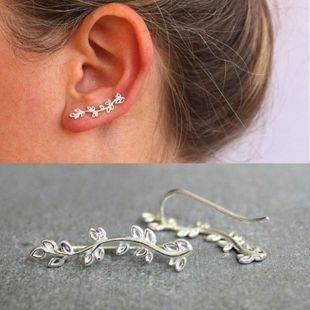 New alloy ear cuff curved branches leaves clip earrings NHDP150557's discount tags
