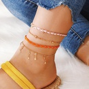 Mode Tress En Alliage De Corde Artificielle Gem Gem Star 4 Couches Bracelet De Cheville NHGY150281