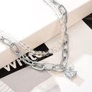 Womens Chain Necklace Plated Copper Necklaces NHXS150295