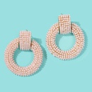 Fashion geometric circle imitation pearl alloy earrings NHMD150323