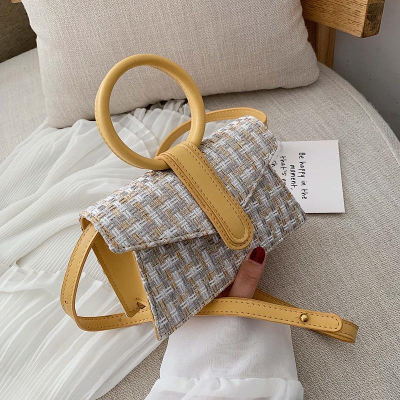 Summer fresh woven envelope handbag NHPB150739