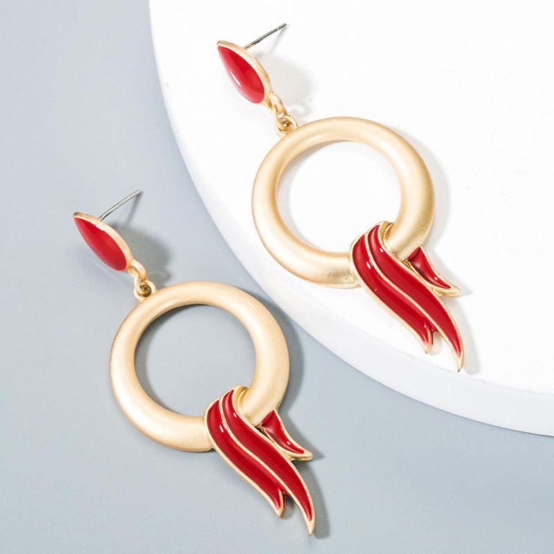 Oil drop alloy flame bird alloy earrings NHLN150792