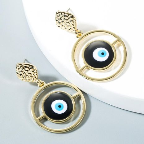 Blue eyed gold-plated earrings NHLN150809's discount tags