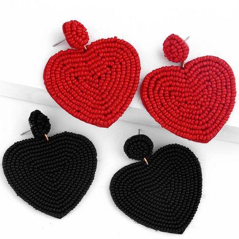 Boucles d'oreilles perles en forme de coeur NHAS150813's discount tags