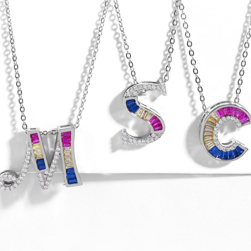 Stylish diamond-studded 26-letter necklace NHAS150820