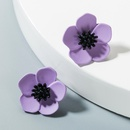 Colored daisies antique stud earrings NHLN150799