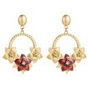 New drop oil flower alloy earrings NHLN150818