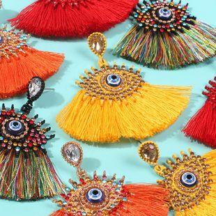 Fashion long tassel angel eye earrings NHMD150965's discount tags