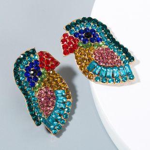 European and American style rhinestone bird earrings NHLN150977's discount tags