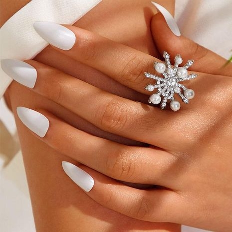 Fashion micro-inlaid zircon star pearl ring NHNZ150978's discount tags