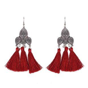 Fashion vintage alloy geometric tassel earrings NHWF150997's discount tags