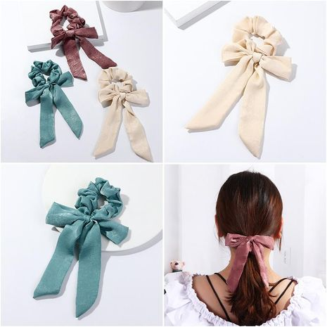 Fashion monochrome bow ponytail ribbon hair accessory NHNZ151004's discount tags